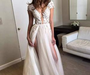 dress, white, and wedding dress image