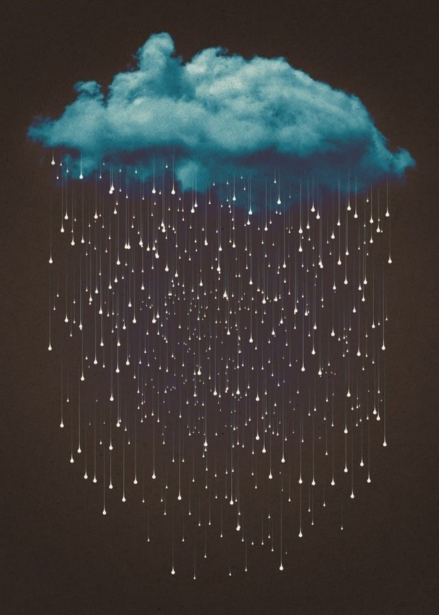 Blue Rainy Cloud Phone Background Wallpaper On We Heart It