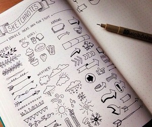 draw, notes, and doodle image