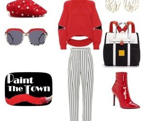 chic, fashion, and red image