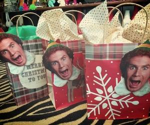 christmas, elf, and gift wrap image
