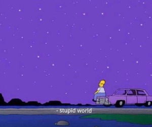 simpsons, quotes, and purple image