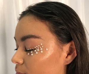 pearls and makeup image