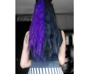 creepy, rockabilly, and hair color image