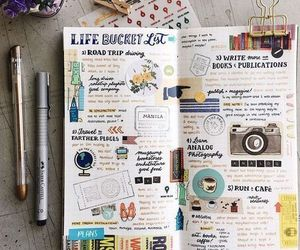 bullet journal, journal, and creative image