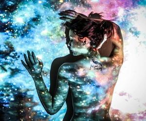 aesthetic, girl, and neon image