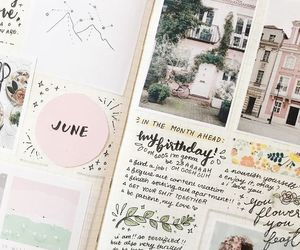 writing, bullet journal, and diary image