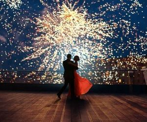 couple, fireworks, and party image