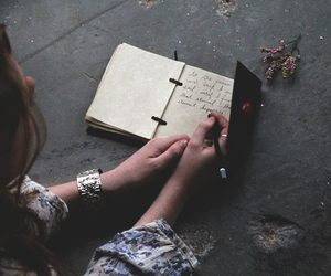 article, diary, and writing image