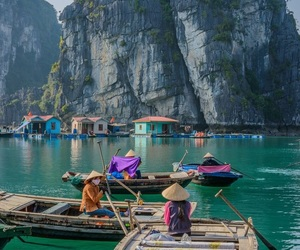 Vietnam, boat, and travel image