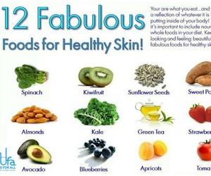 food, health, and skin image