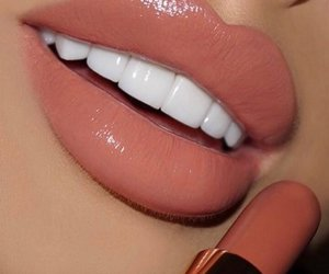 art, lips, and lipstick image