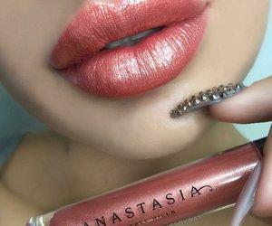art, makeup, and lips image