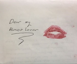 kiss, Letter, and lipstick image