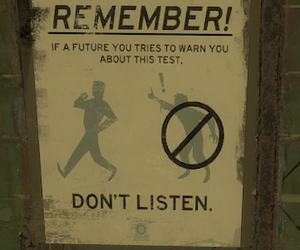 funny sign, timetravel, and test image