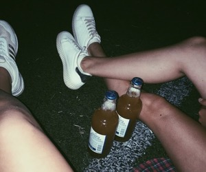 beer, friend, and white image