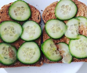 breakfast, color, and cucumber image