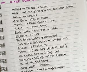 handwriting, kpop, and songs image