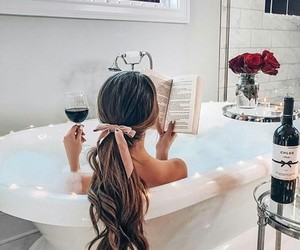 book, hair, and relax image