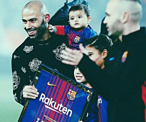 baby, Barca, and fans image