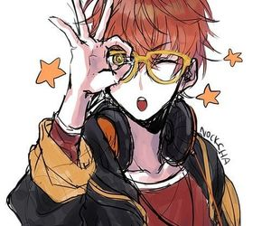 mystic messenger, anime, and seven image