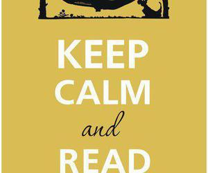 book, keep calm, and read image