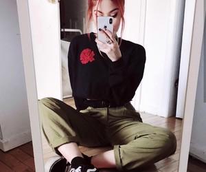 redhair, mirrorselfie, and luanna image