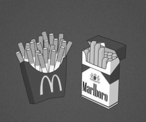 cigarette, marlboro, and McDonalds image
