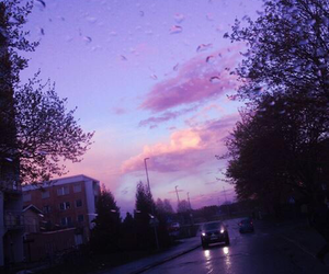 sky, purple, and aesthetic image