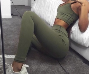 clothes, girl, and khaki image