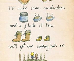 adventure, tea, and sandwich image