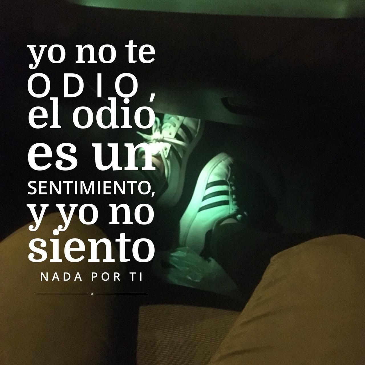Yo No Te Odio El Odio Es Un Sentimiento Y Yo No Siento Nada