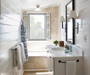 bathroom, home decor, and farmhouse style image