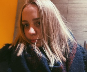 blonde, cold, and selflove image