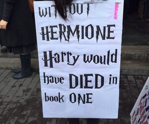 hermione, feminism, and harry potter image