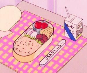 anime, food, and pink image