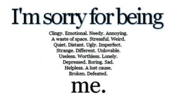 sorry, boring, and me image