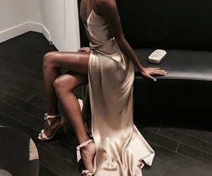 dress, fashion, and high heels image