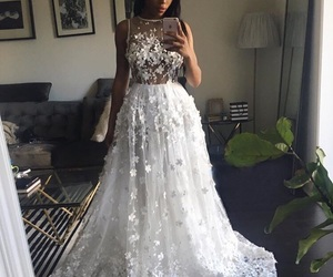 dress, luxury, and wedding dress image