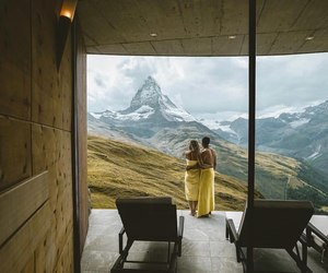 mountains, love, and couple image