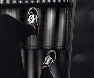 aesthetic, escalator, and feet image