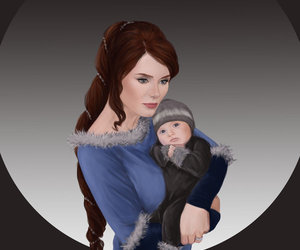 robb stark, house tully, and catelyn stark image