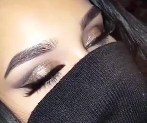 burnette, make-up, and pretty image