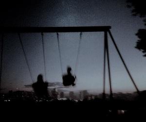 grunge, night, and swing image
