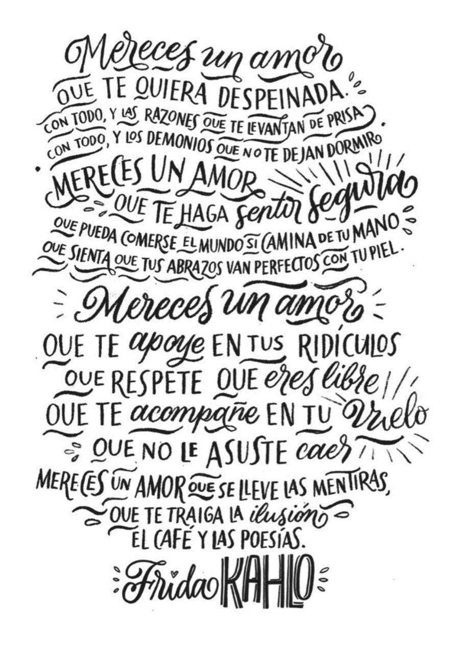 Mereces Un Amor Frida Kahlo On We Heart It