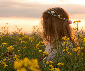 flowers, article, and girl image