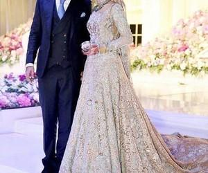 bride, groom, and wedding image