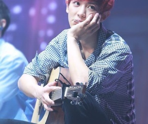 exo, red, and park chanyeol image