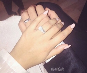 couple, nails, and ring image