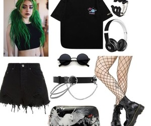 fashion, goth, and outfits image